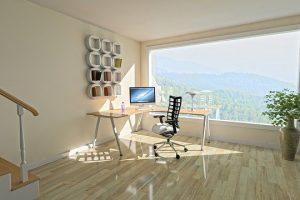 Biuro w salonie